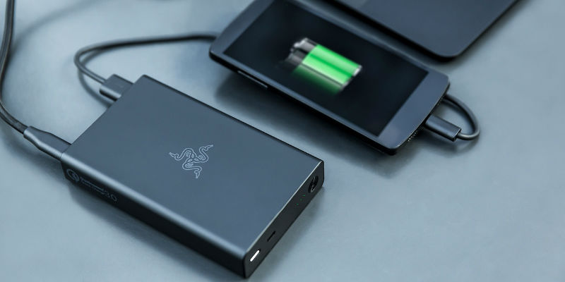 Razer Portable Power Bank - 15 Geeky gifts your tech-savvy friends are going to love