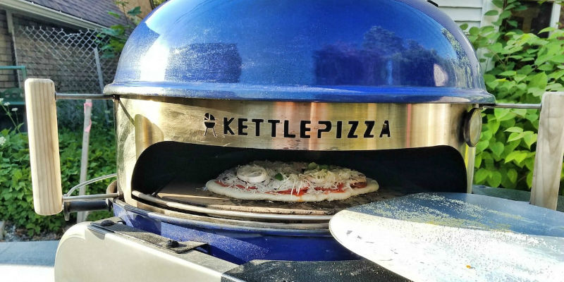 KettlePizza Wood-Fired Pizza Oven Kit  -7 Pizza makers for a cheese-filled weekend