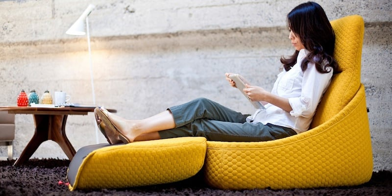 Hosu Convertible Lounge by Patricia Urquiola - 15 Lounge chairs to keep you comfy on a Sunday afternoon