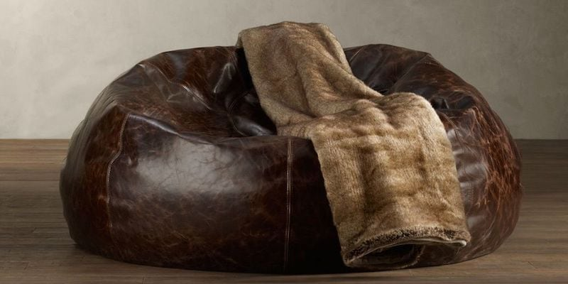 Grand Leather Bean Bag Chair - 15 Lounge chairs to keep you comfy on a Sunday afternoon