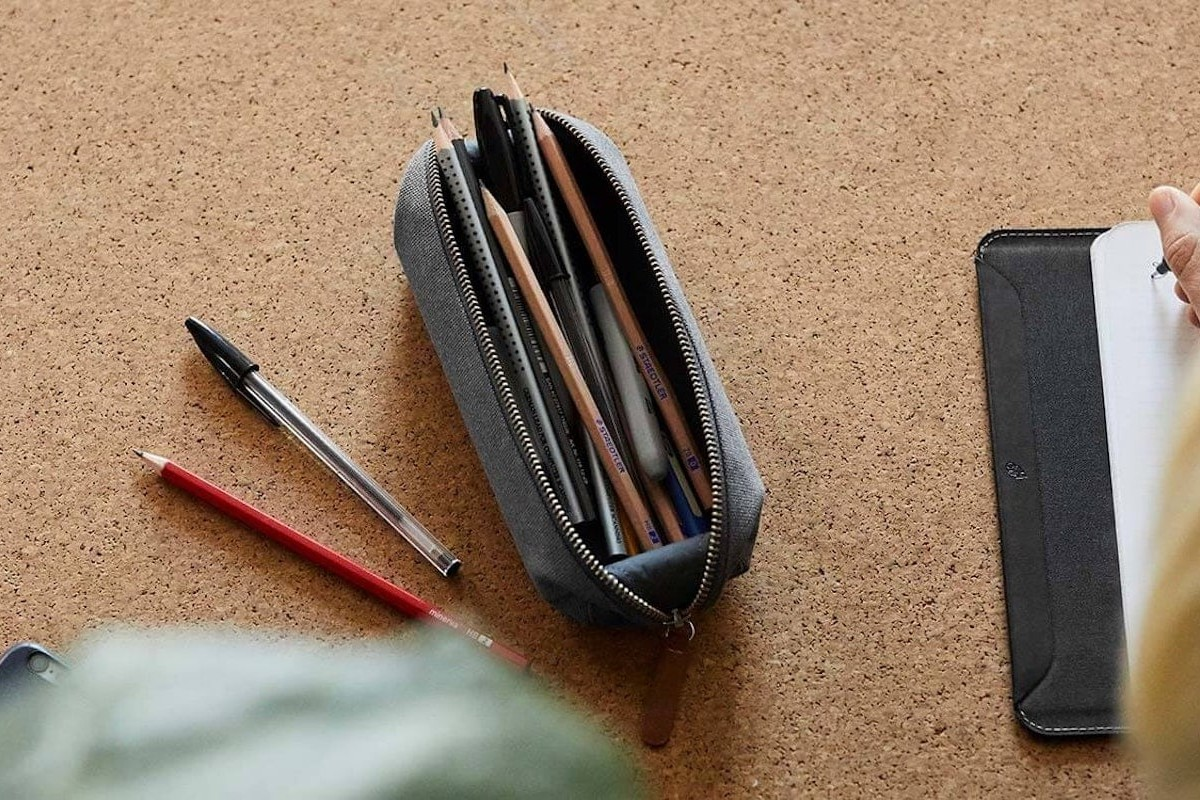 Bellroy Lay-Flat Pencil Case contains your essential school items
