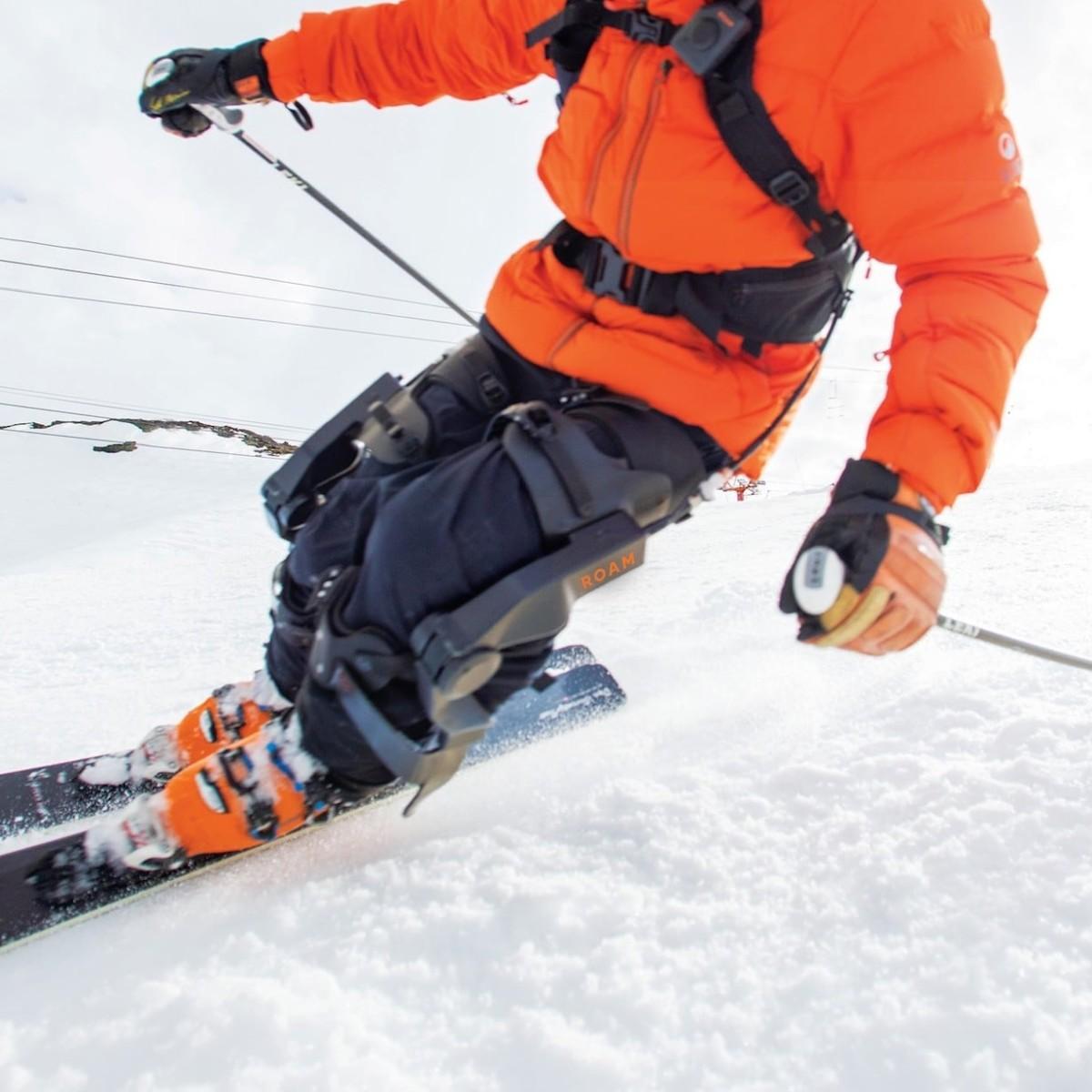 Roam Elevate Robotic Ski Exoskeleton lets you ski the slopes for longer