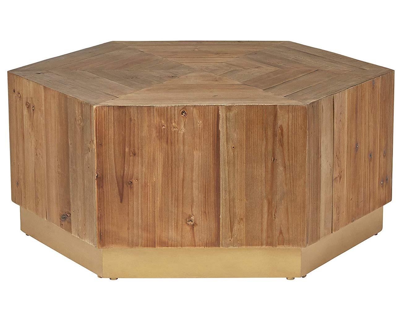 Rivet Rustic Wood Coffee Table