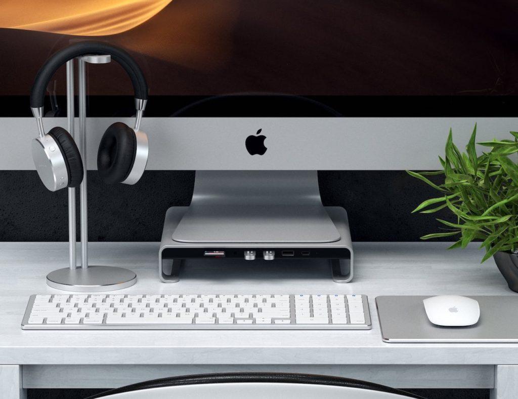Satechi+Type-C+Aluminum+iMac+Monitor+Stand+Hub
