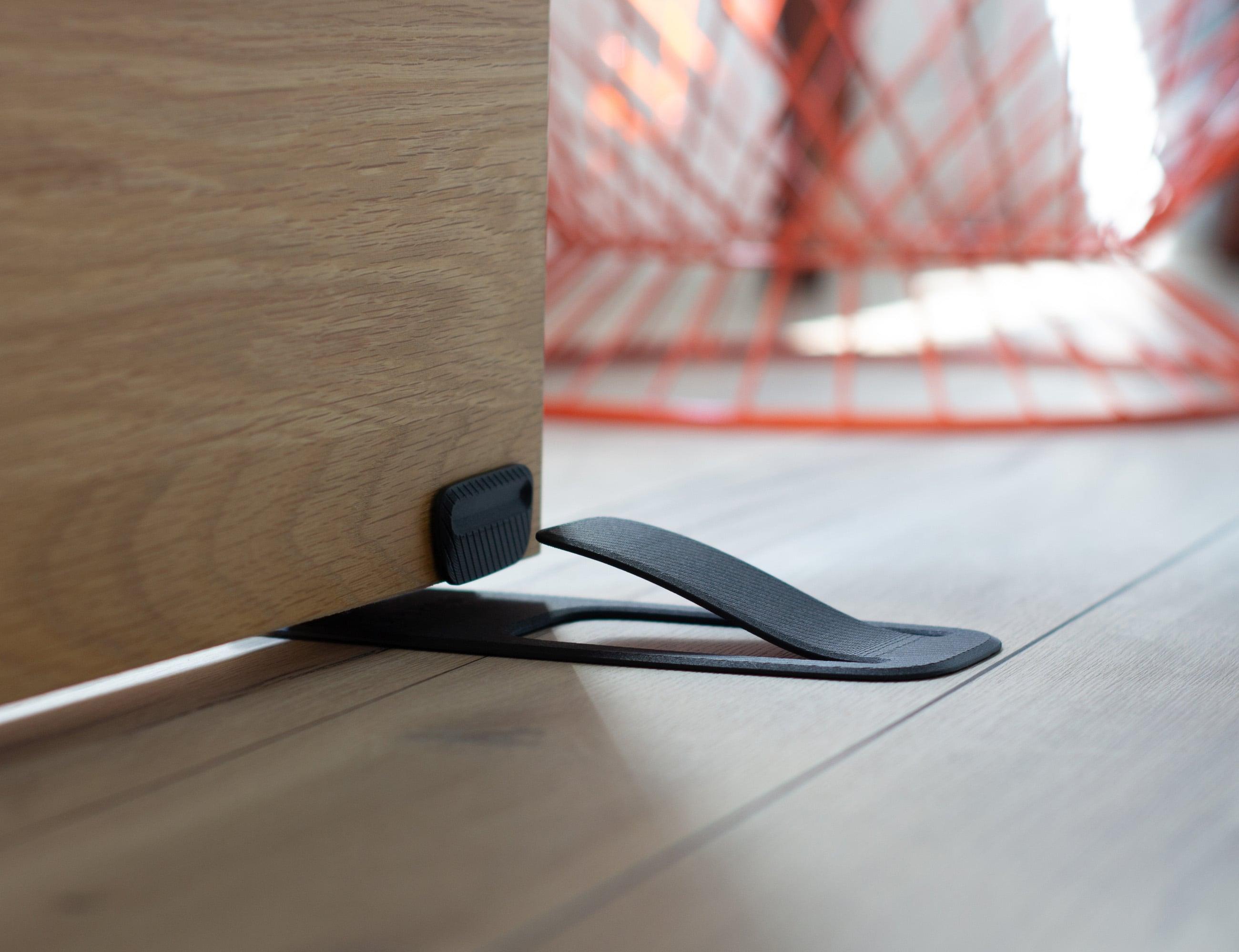 Spring Innovative Door Stopper properly holds your door open