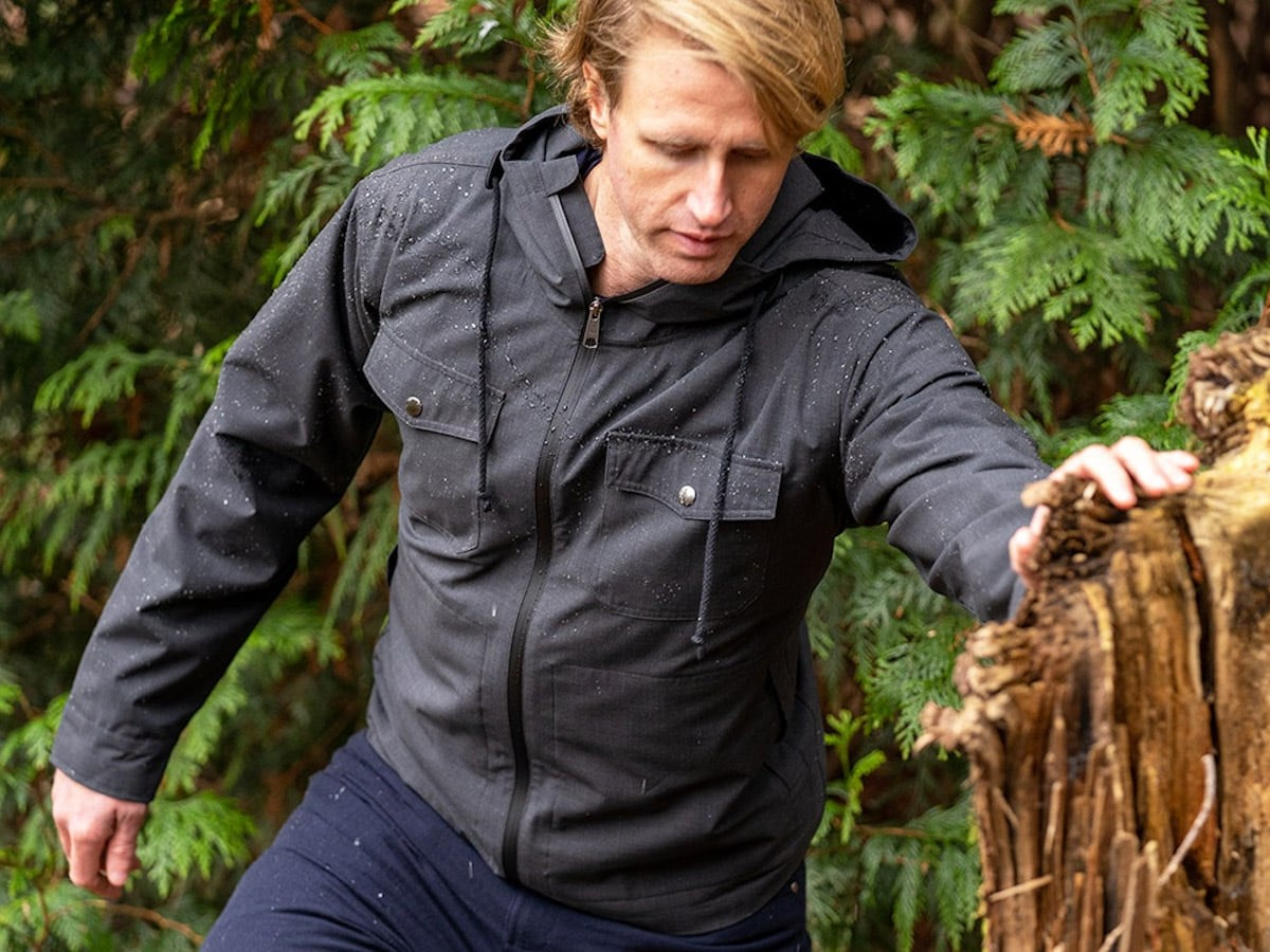 Woolly NatureDry All-Weather Jacket is made from 100% merino wool
