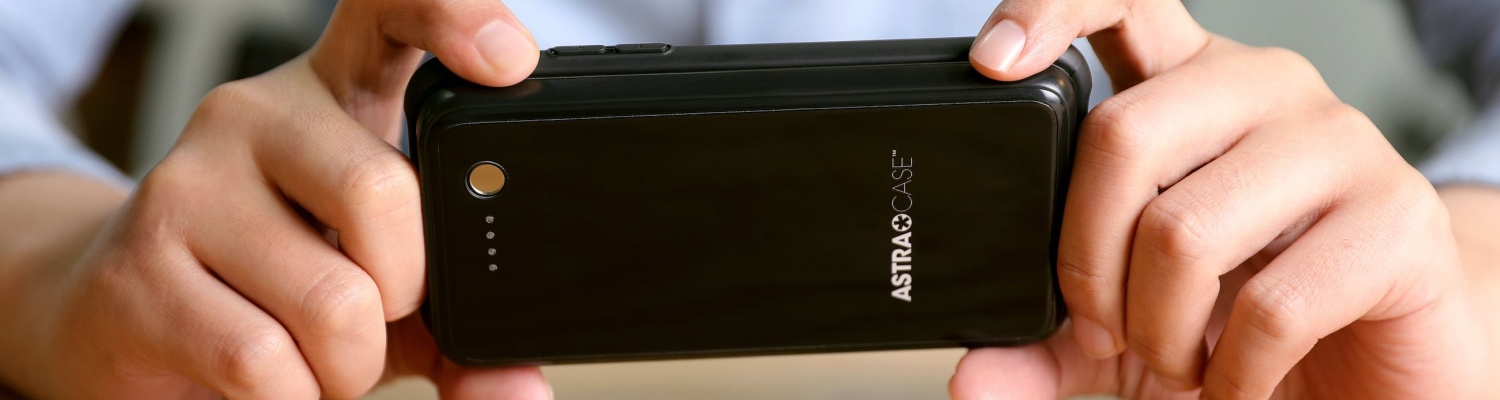 Astracase makes it easy to keep your phone charged