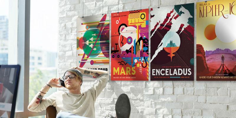 NASA Exoplanet Travel Bureau Art Reprint Posters