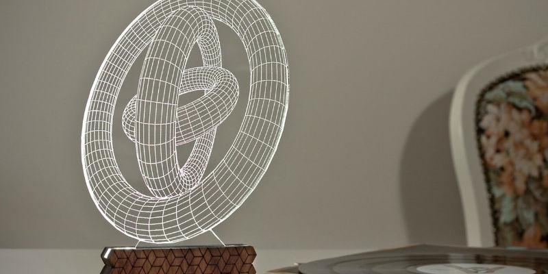 Zinteh Circles 3D Illusion Table Lamp
