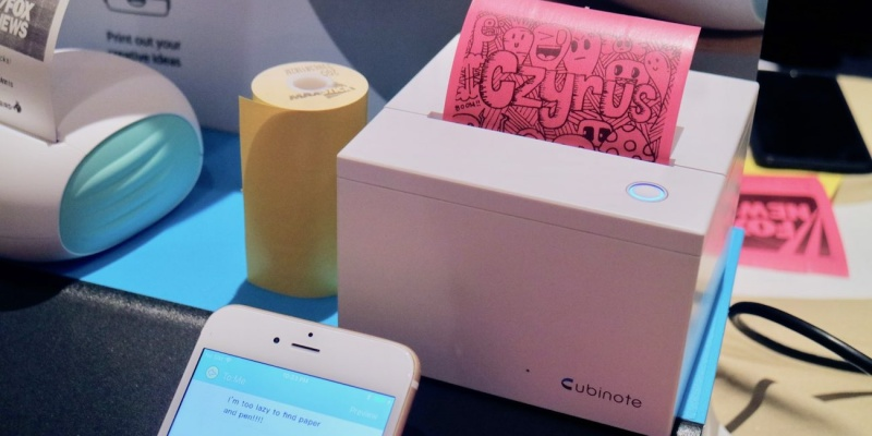 Cubinote Sticky Note Printer - Smart stationery that will make you want to work