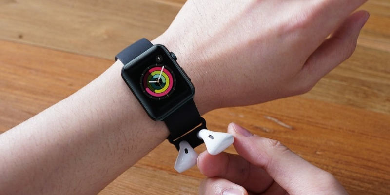 Elago Wrist Fit Apple AirPods Silicone Strap - Holiday gift guide - the best stocking stuffers