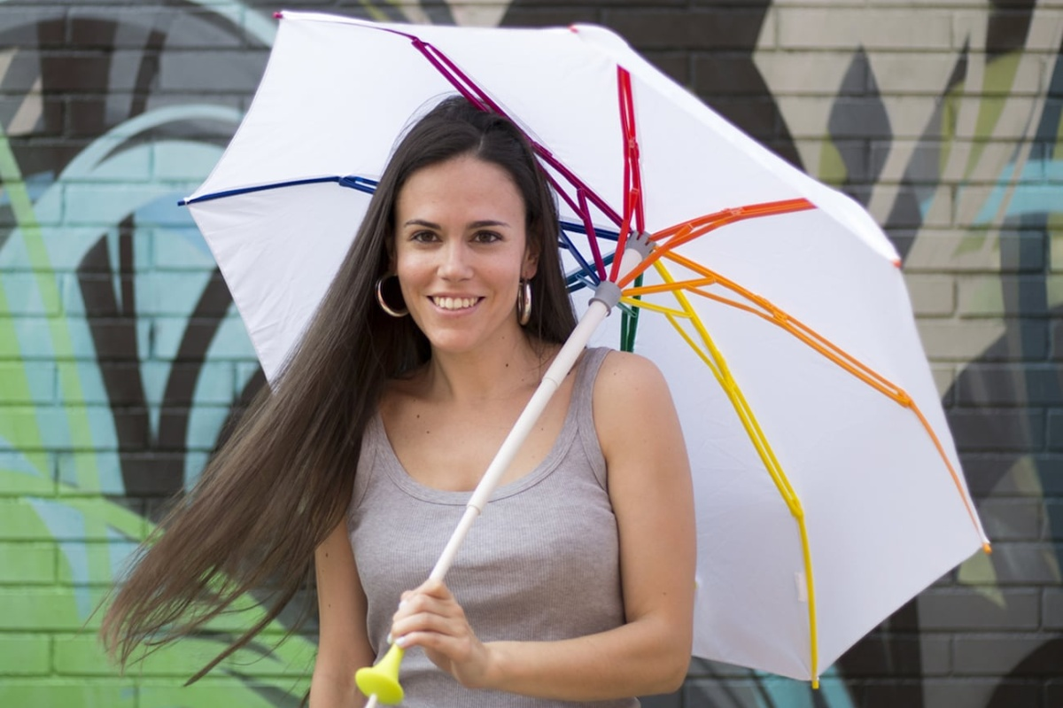 The lightweight Pluvi umbrella is surprisingly strong