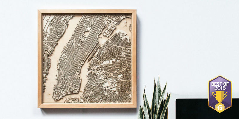 CityWood Minimal 3D Wooden Maps