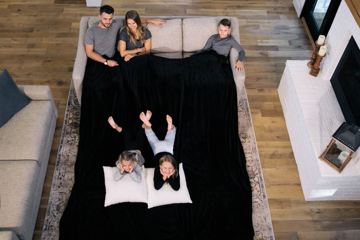 Your whole family will be cozy under the Big Blanket