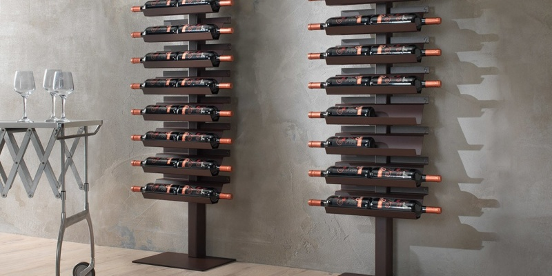 Dioniso Basic! Steel Wine Rack - Wine accessories that will make you reach for a glass
