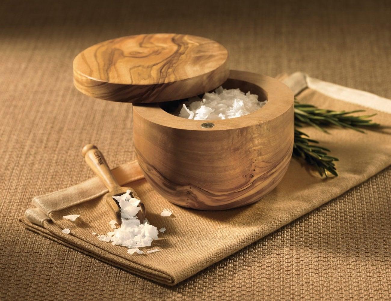 Berard Handcrafted Wooden Salt Keeper