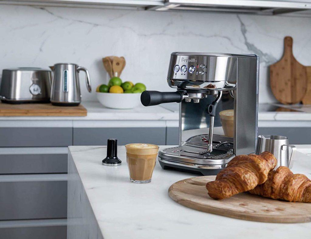 Breville+Bambino+Plus+Compact+Espresso+Machine+serves+barista-level+coffee
