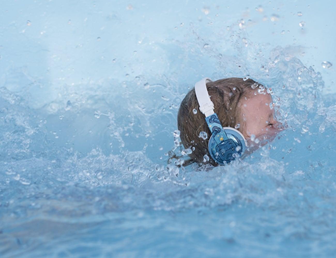 BuddyPhones WAVE Kids Waterproof Headphones