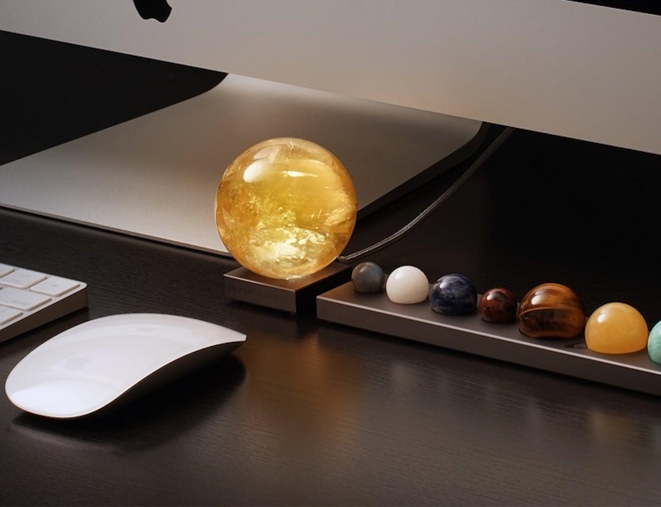 DeskSpace Handcrafted Solar Sun Mood Light