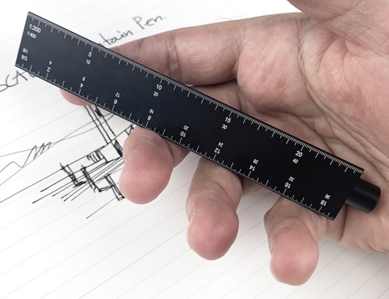 ESCALA Scale-Ruler Fountain Pen