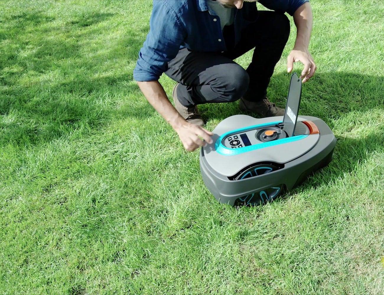 GARDENA Smart SILENO City Robotic Lawnmower Set runs nearly silently