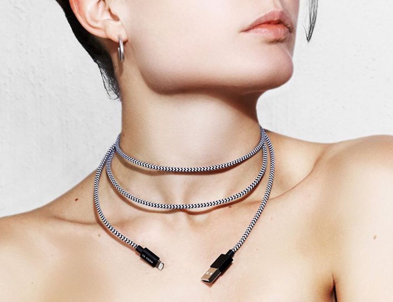 Le Cord Aquarelle Marble Effect Charging Cable loading=