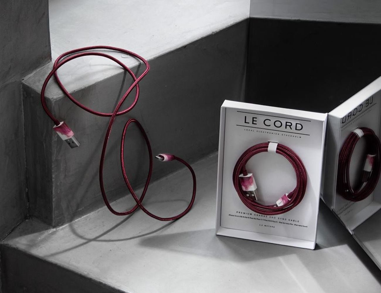 Le Cord Aquarelle Marble Effect Charging Cable