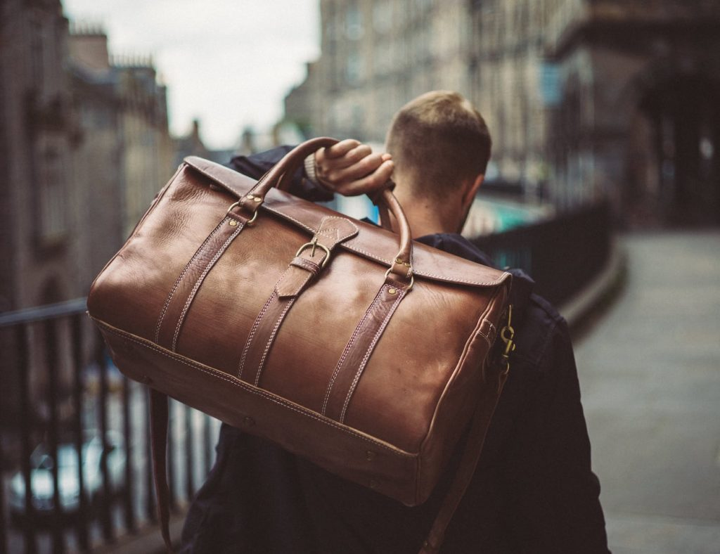 LindenLeatherCo+Leather+Duffle+Bag