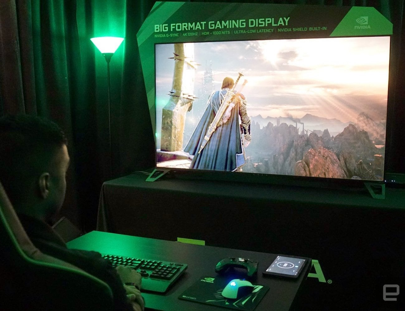 NVIDIA 65-inch 4K HDR Big Format Gaming Display loading=