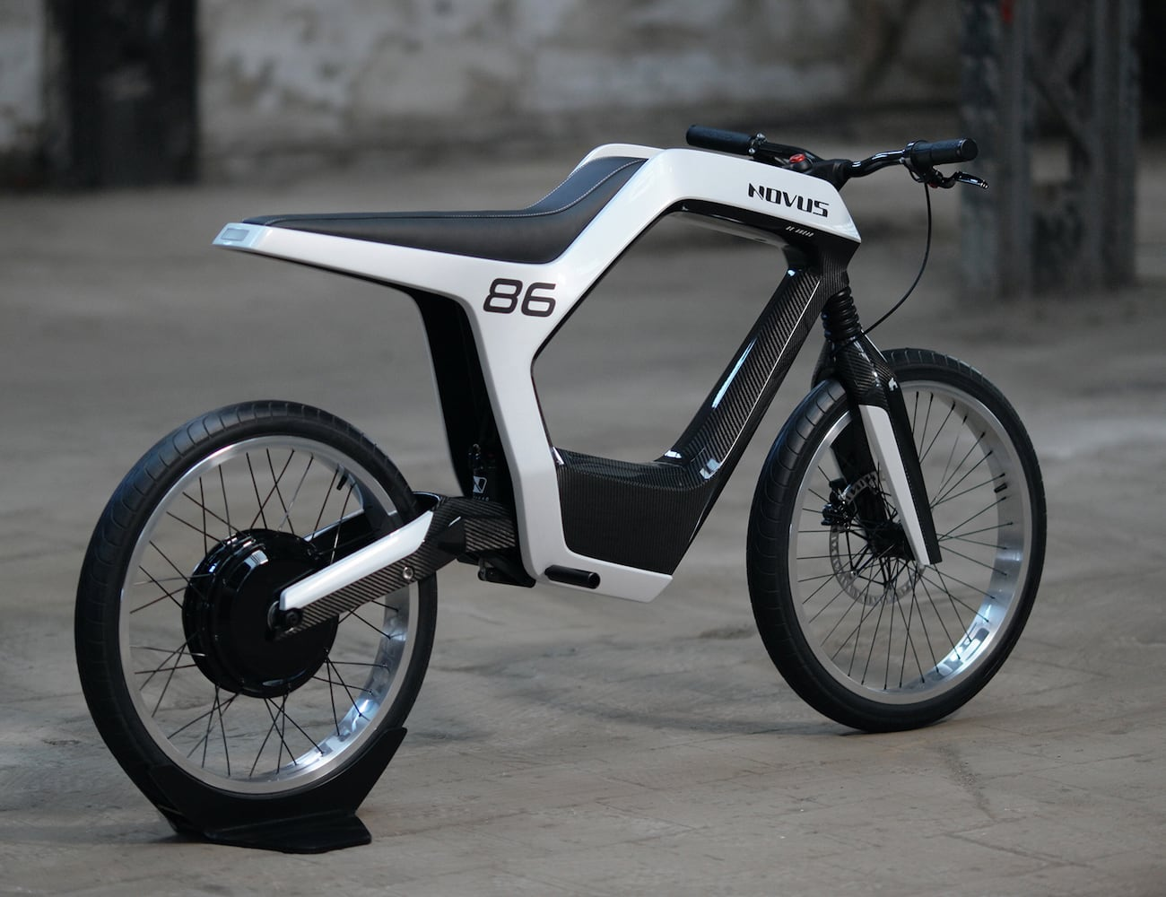Novus Electric Carbon Fiber Motorcycle