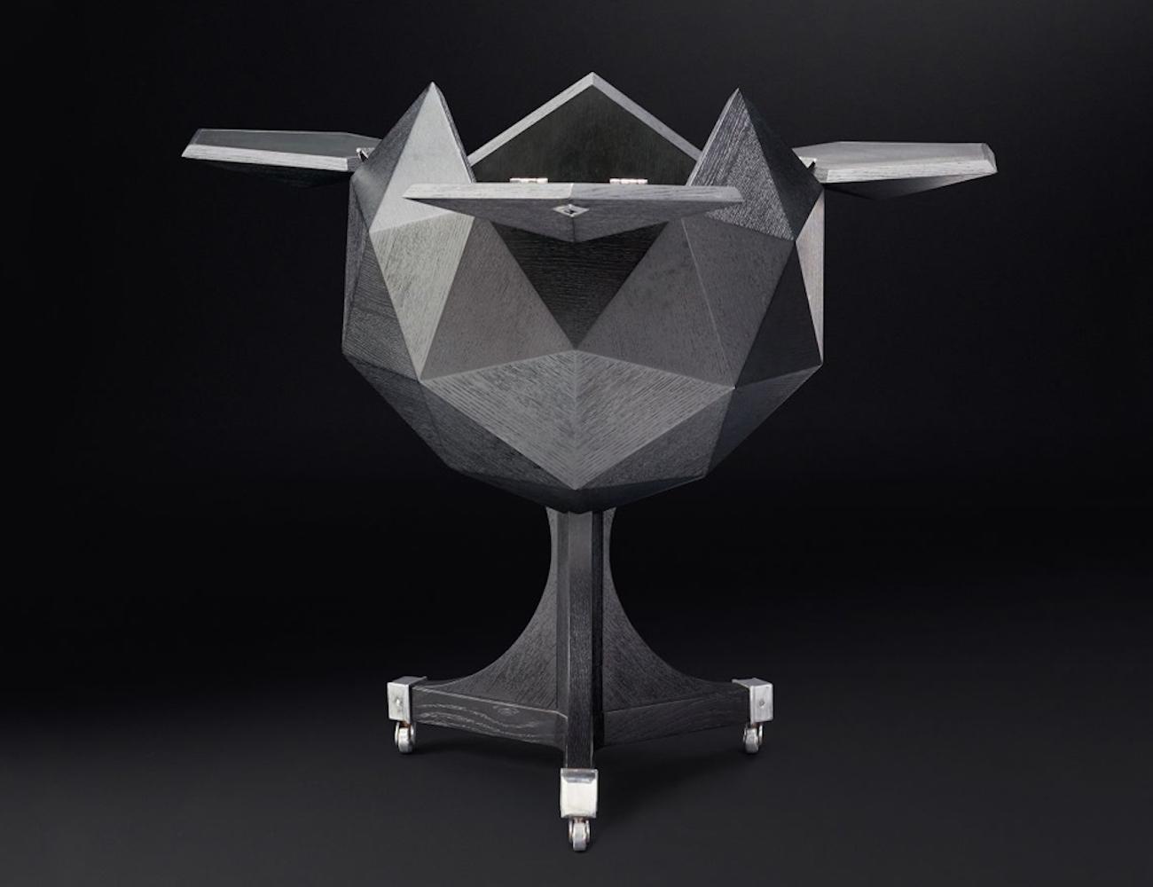 Restoration Hardware Polyhedron Bar Cart