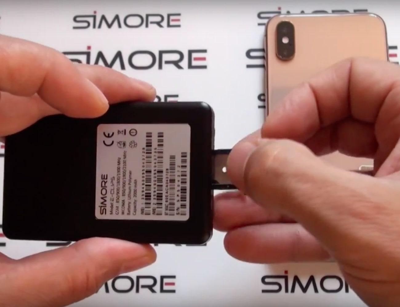 SIMore E-Clips Gold iPhone Dual SIM Adapter