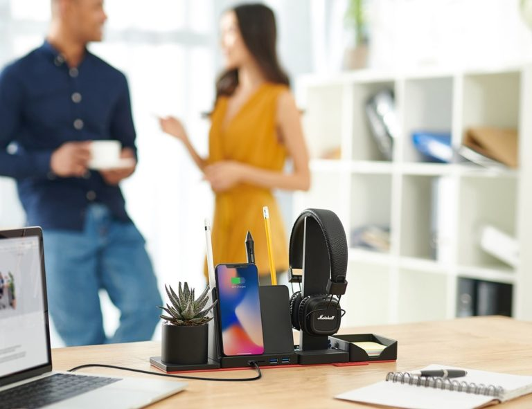 STEALTHO+Transforming+Desk+Organizer+with+Wireless+Charger