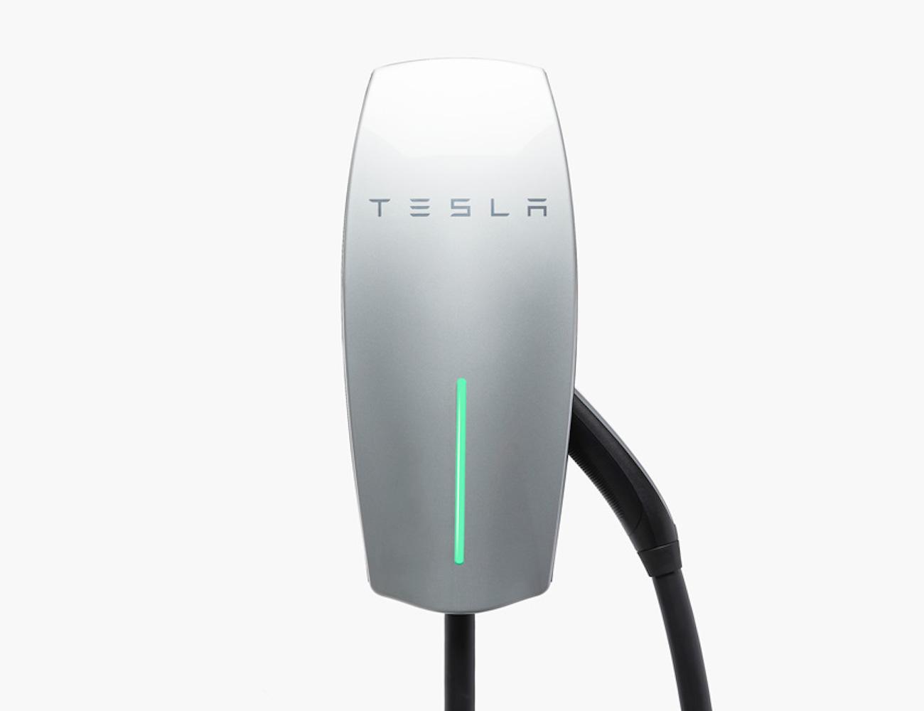 Tesla Silver Wall Connector