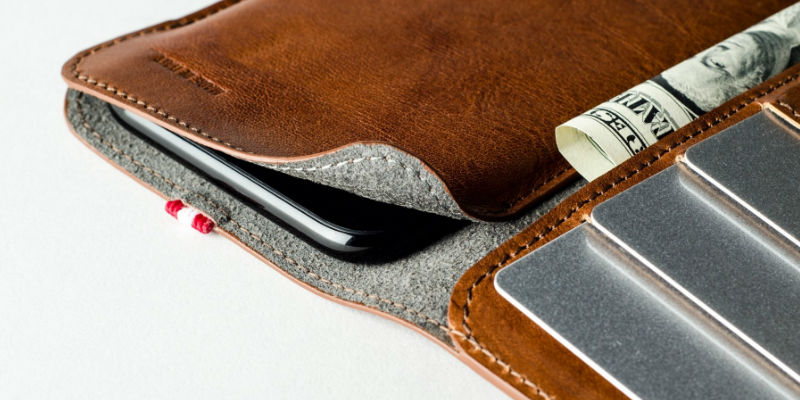 The ultimate checklist of everything you need for a cross-country trip - hardgraft Leather iPhone Xs/Xs Max Card Wallet