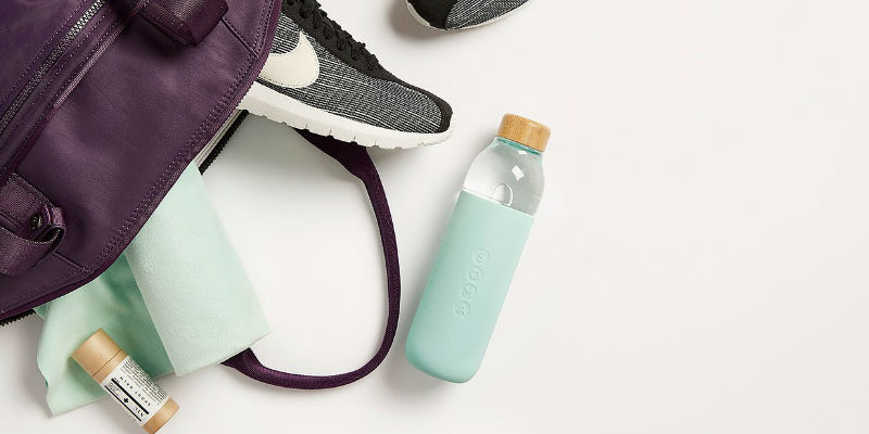 The ultimate checklist of everything you need for a cross-country trip - Soma Glass Water Bottle