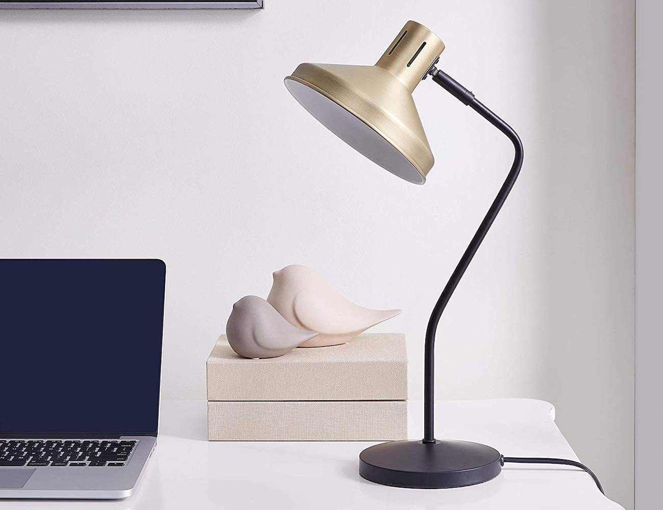 Archiology Seva Antique Brass Desk Lamp