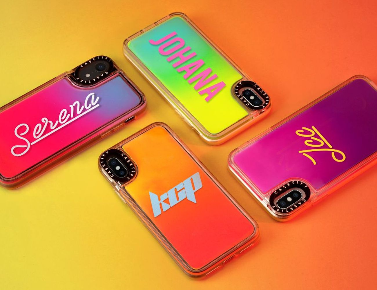 low priced 7c417 b22ed CASETIFY Neon Sand Cases glow in the dark