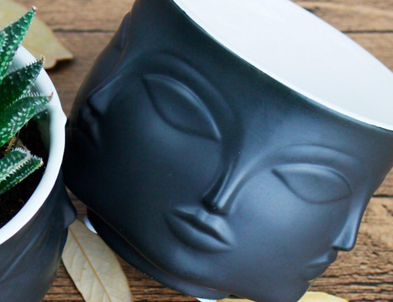 Face Ceramic Flower Pot