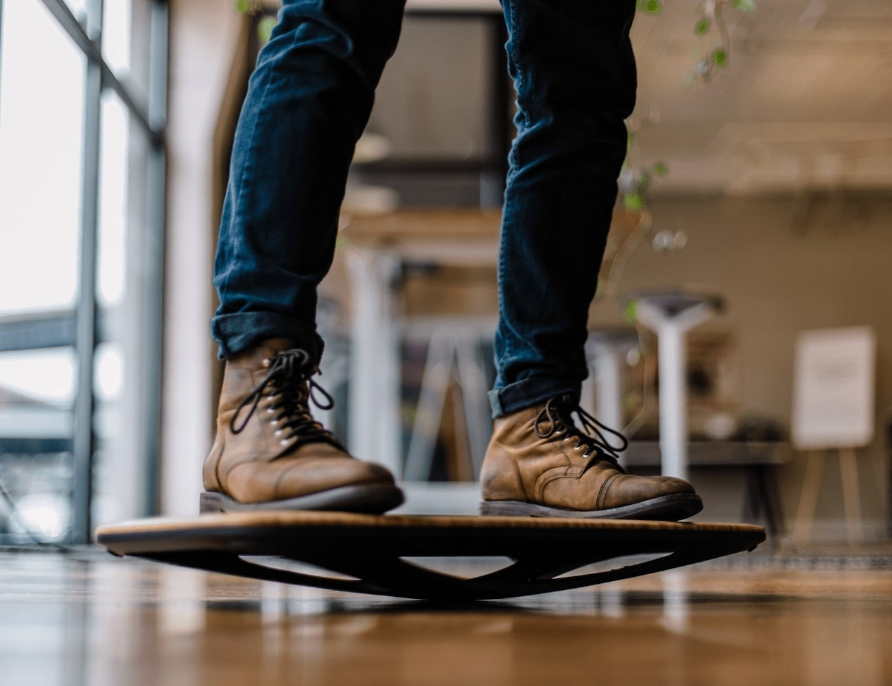 Floatdeck Standing Desk Balance Board activates your entire body