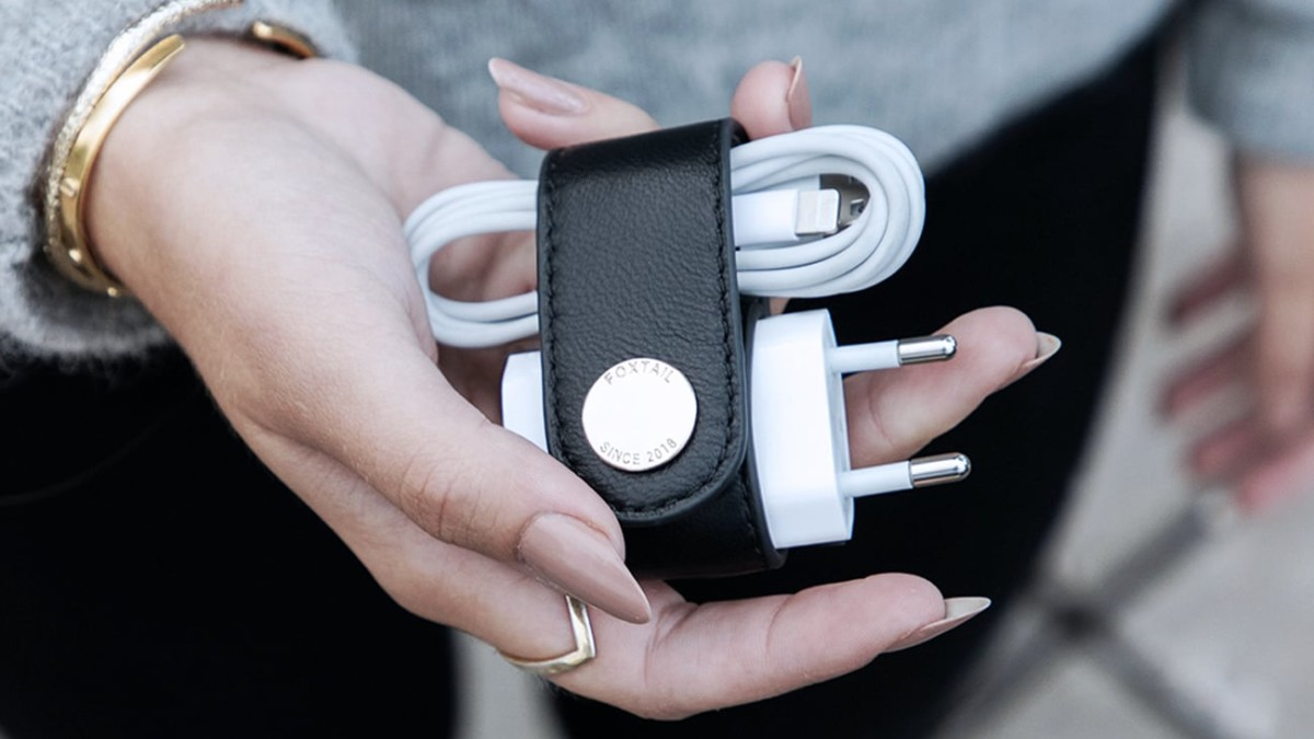 Foxtail Premium iPhone Charger Organizer helps you travel smarter