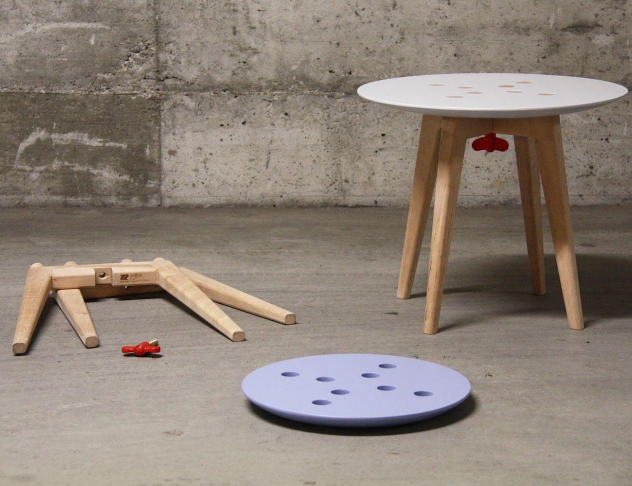 Frida Demountable Stool and Side Table