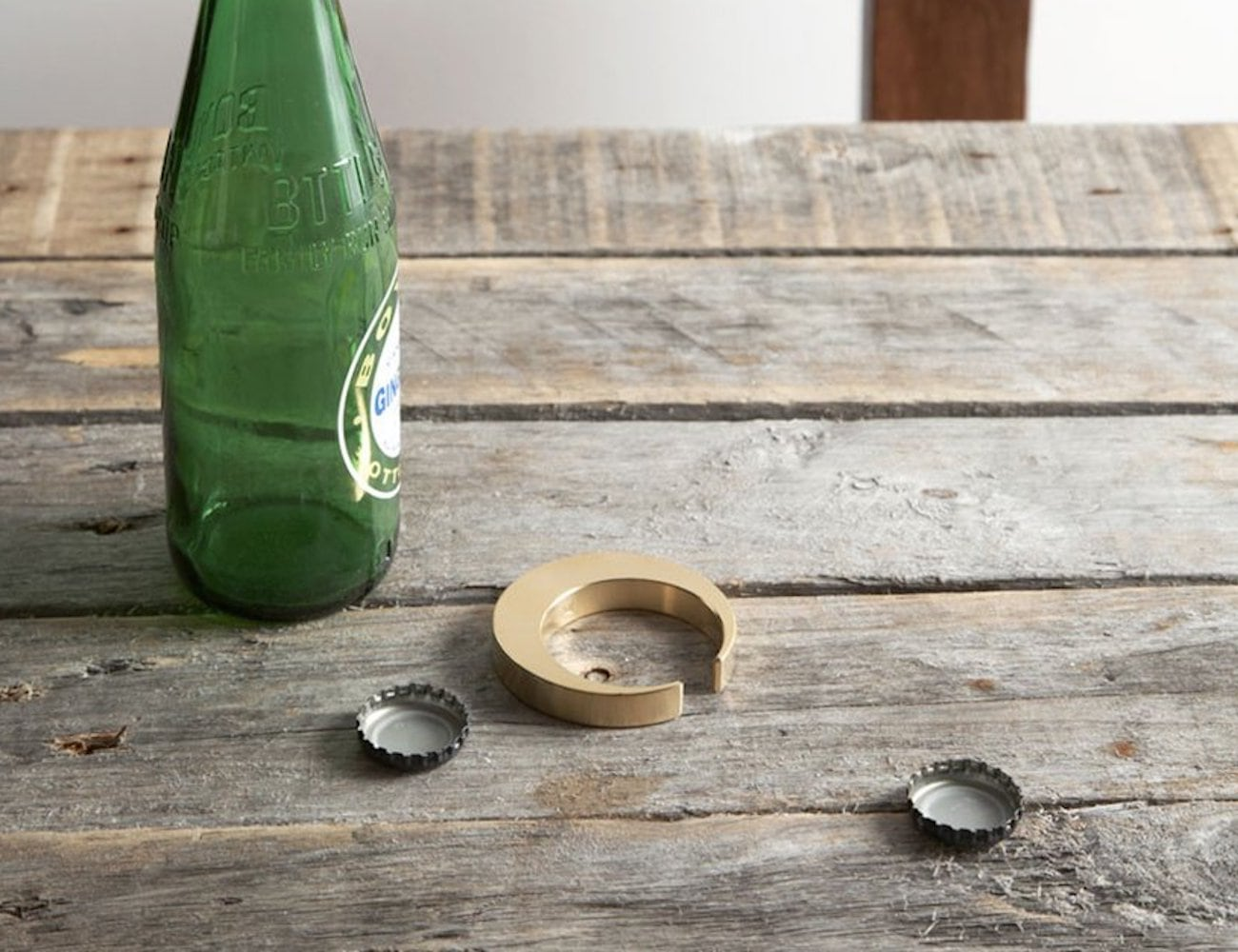 Futagami Crescent Brass Bottle Opener