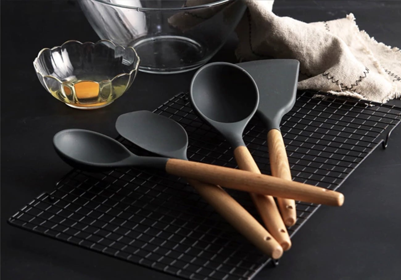 Heat-Resistant Silicone Cooking Utensils add some sophistication to your kitchen