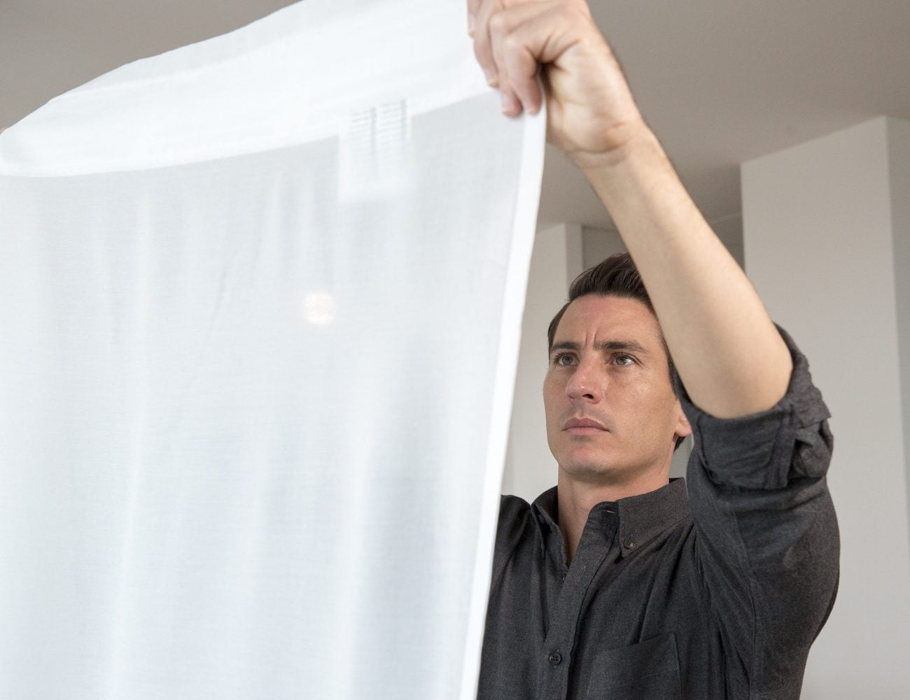 IKEA GUNRID Air Purifying Curtain reduces common air pollutants