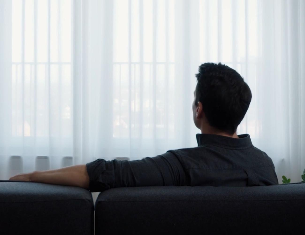 IKEA GUNRID Air Purifying Curtain reduces common air pollutants