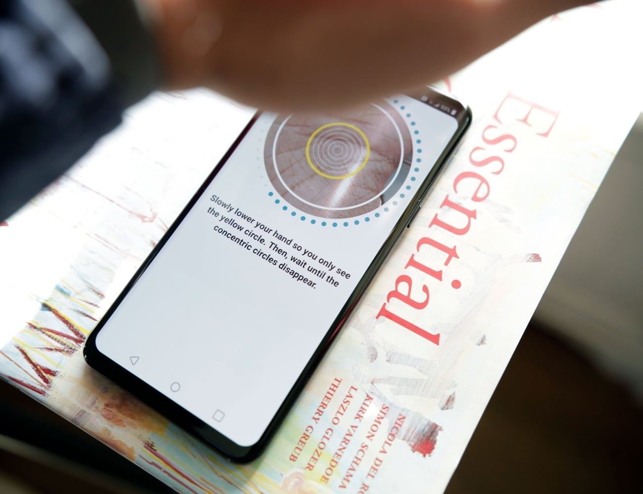 LG G8 ThinQ Palm Authentication Smartphone quickly unlocks your device