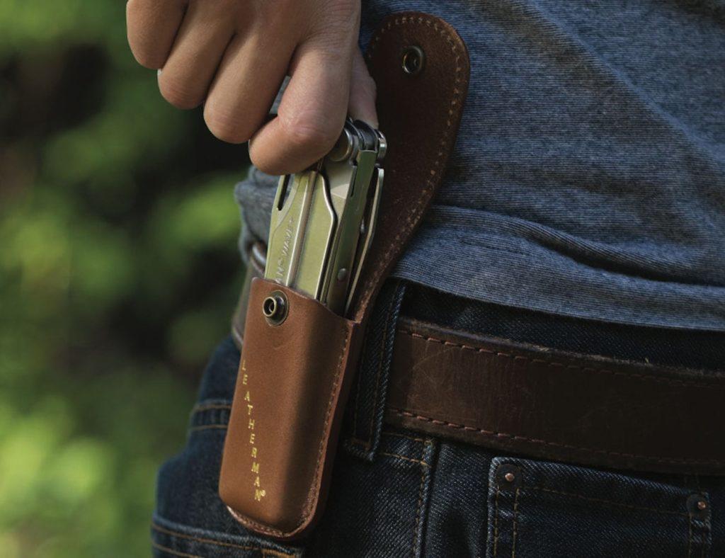 Leatherman+Original+Wave+Leather+Belt+Sheath+stylishly+protects+your+multi+tool