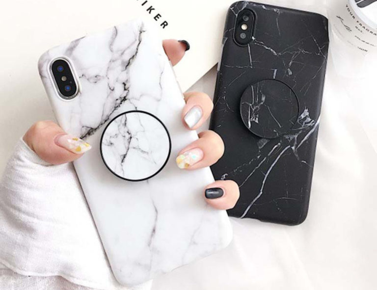 Marble+Pattern+Kickstand+iPhone+Case