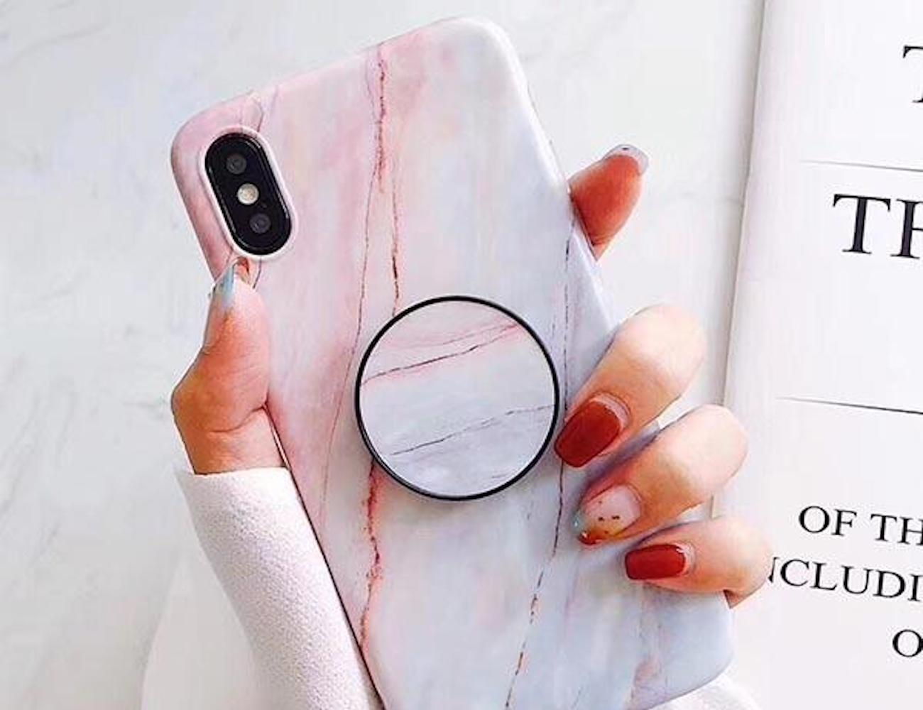 Marble Pattern Kickstand iPhone Case